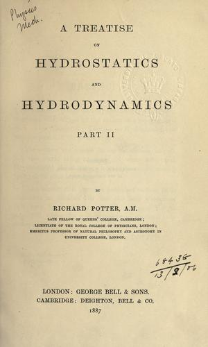 Treatise on hydrostatics and hydromechanics by Richard Potter