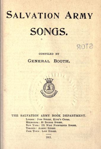 Salvation Army songs by