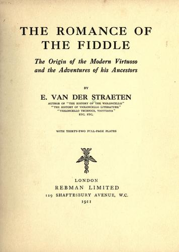 The romance of the fiddle