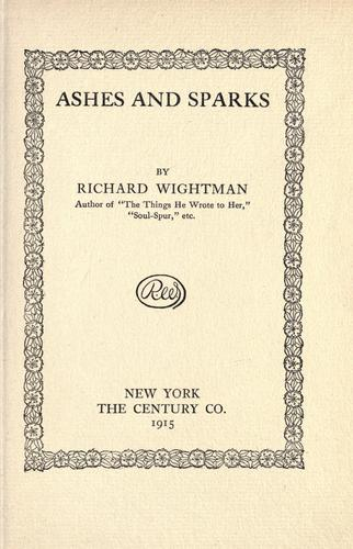 Ashes and sparks by Richard Wightman