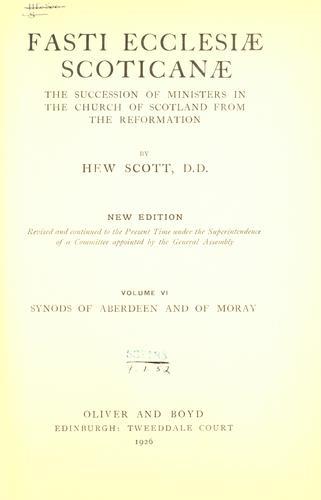 Fasti ecclesiæ scoticanæ