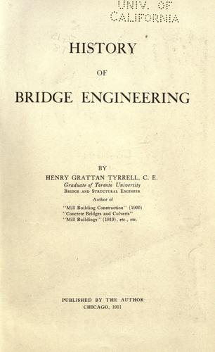 History of bridge engineering by H. G. Tyrrell