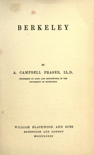 Berkeley by Alexander Campbell Fraser