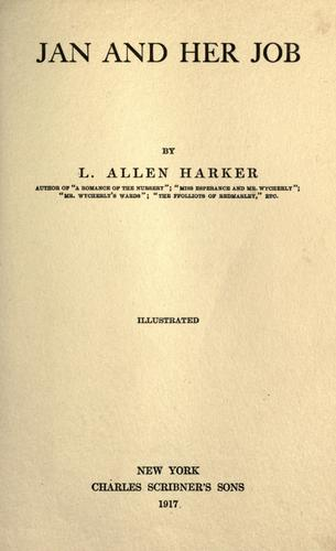 Jan and her job by L. Allen Harker