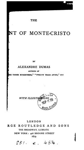 The count of Monte-Cristo by Alexandre Dumas (fils)