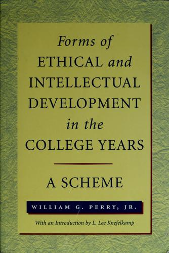 Forms of intellectual and ethical development in the college years