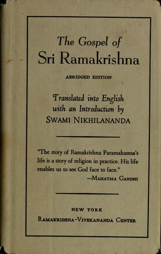 The gospel of Sri Ramakrishna by Ramakrishna