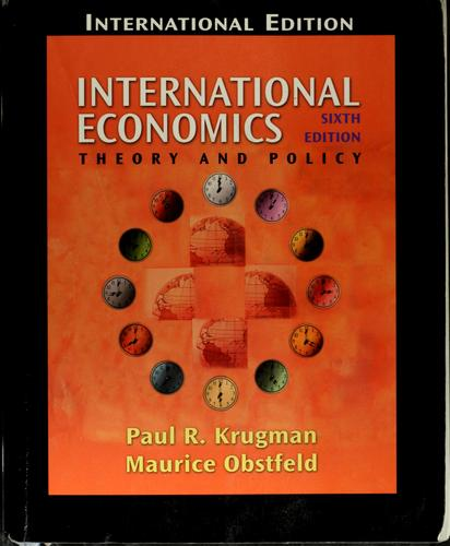 International economics by Paul R. Krugman