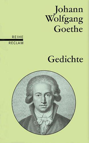 "Gedichte (Translation ""Poems"") by Johann Wolfgang von Goethe"