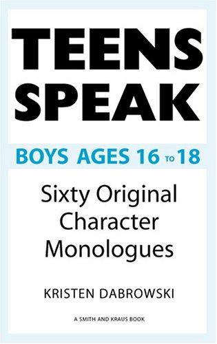 Teens Speak Boys Ages 16 To 18 by Kristen Dabrowski