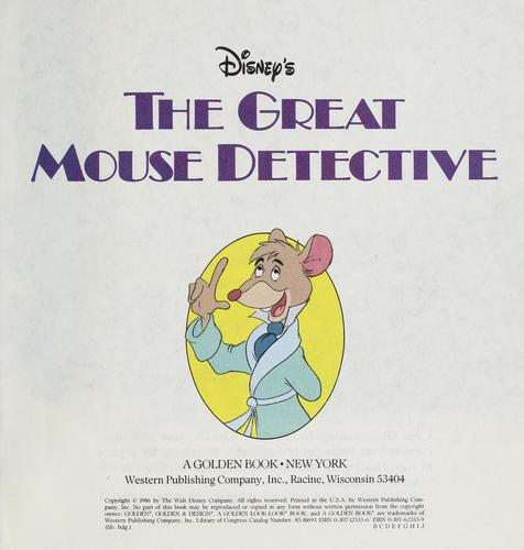 Disney's The great mouse detective by Walt Disney Pictures