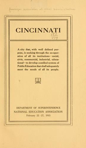 Cincinnati by American Association of School Administrators.