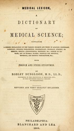 Medical lexicon.