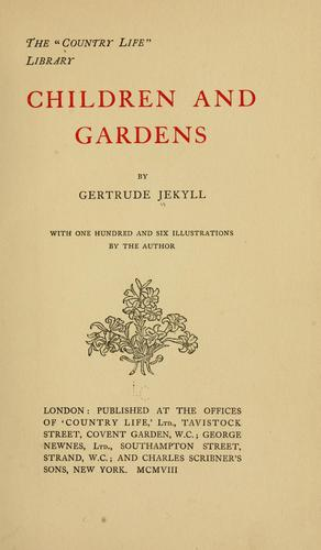 Children and gardens by Gertrude Jekyll