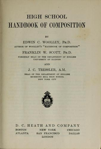 High school handbook of composition by Edwin Campbell Woolley