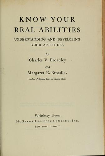 Know your real abilities by Charles V. Broadley