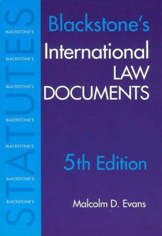 International Law Documents by M. Evans