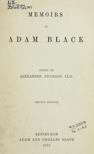 Memoirs by Adam Black