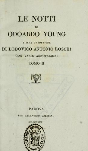 Opere di Odoardo Young by Edward Young