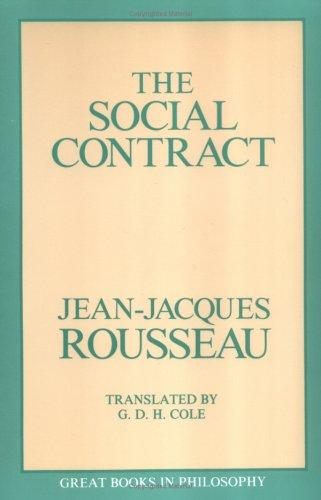 Social Contract (Great Books in Philosophy) by Jean-Jacques Rousseau