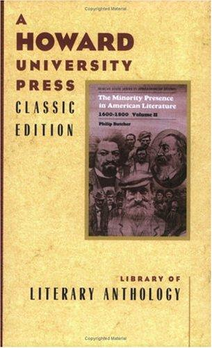The Minority Presence in American Literature, 1600-1900