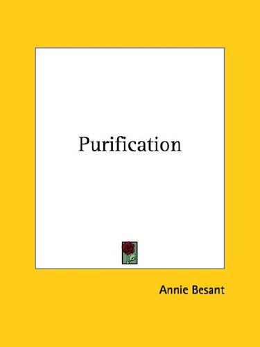 Purification by Annie Wood Besant