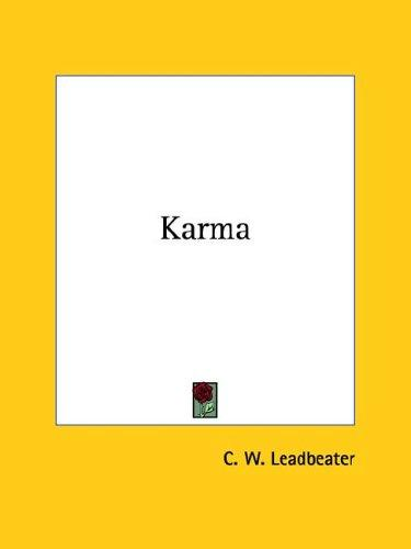 Karma by Charles Webster Leadbeater