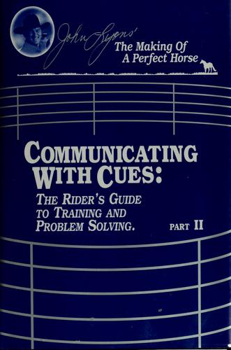 Communicating with cues by Lyons, John