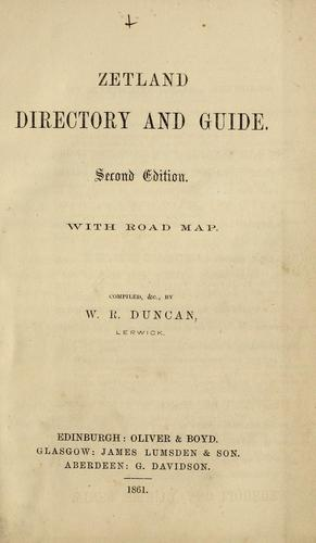 Zetland directory and guide. With road map by Directories. - Shetland