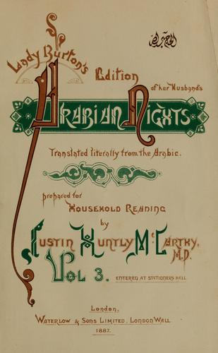 Lady Burton's edition of her husband's Arabian nights by