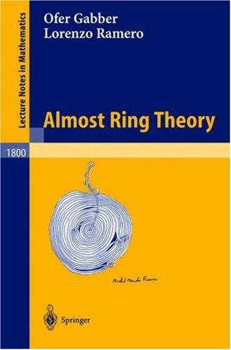 Almost ring theory by