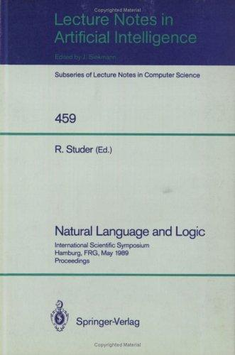 Natural language and logic
