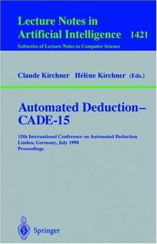 Automated deduction, CADE-15 by