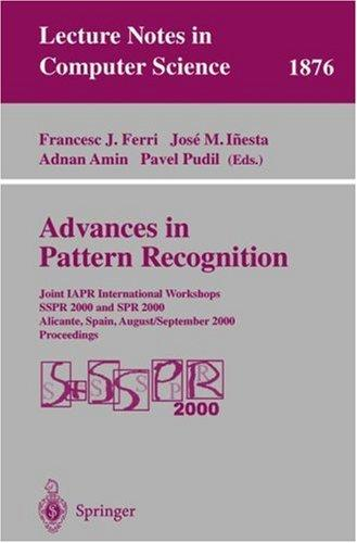 Advances in pattern recognition by