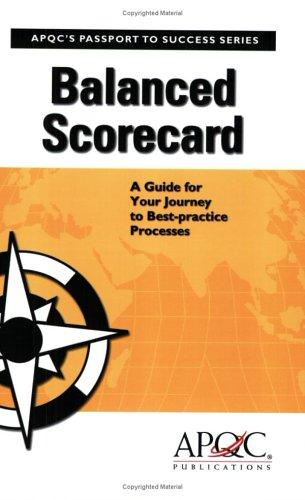 Balanced Scorecard by John Crager; Cindy Hubert; Mike O'Kane