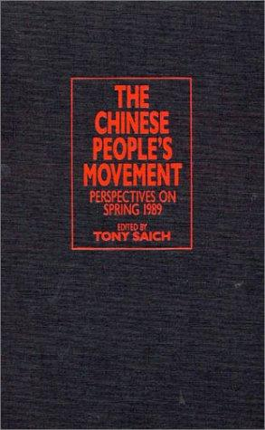 The Chinese People's Movement by Tony Saich