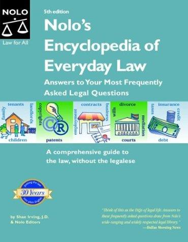 Nolo's encyclopedia of everyday law by