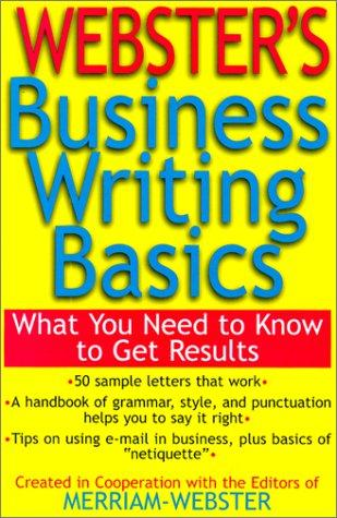 Webster's Business Writing Basics by Merriam-Webster