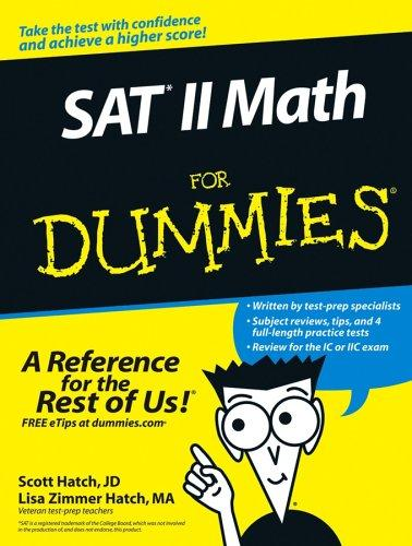 SAT II math for dummies by Lisa Zimmer Hatch