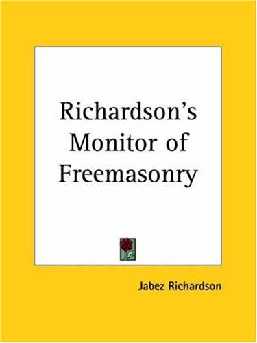 Richardson's Monitor of Freemasonry