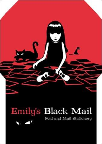 Emily's Black Mail Fold and Mail Stationery by Cosmic Debris.