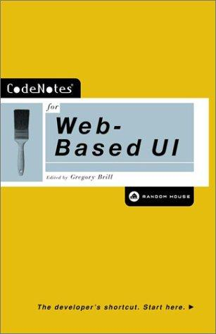 Codenotes for Web Based Ui by Gregory Brill