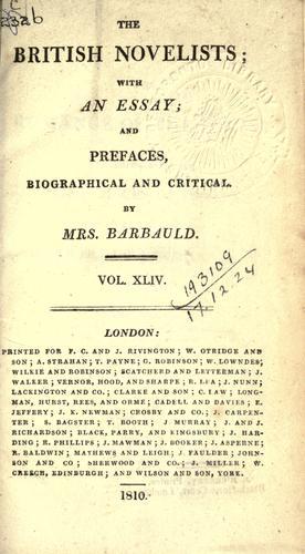 The British novelists.