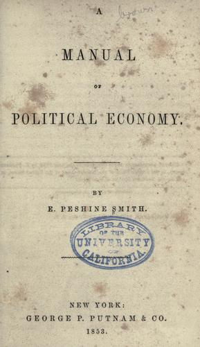 A manual of political economy.