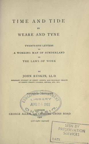 Time and tide, by Weare and Tyne