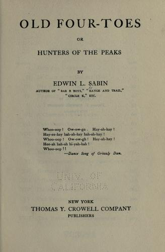 Old Four-Toes by Edwin L. Sabin