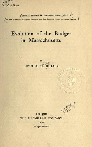 Evolution of the budget in Massachusetts by