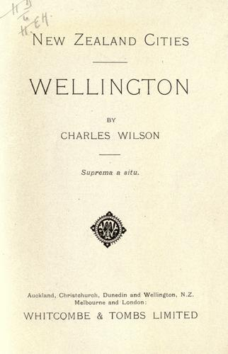 New Zealand Cities by Charles Wilson