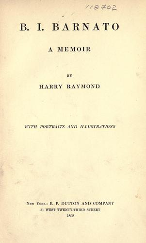 B. I. Barnato by Harry Raymond