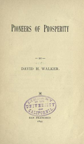 Pioneers of prosperity